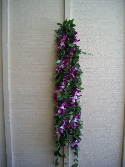 Maile Twined with Sonia Orchid Lei