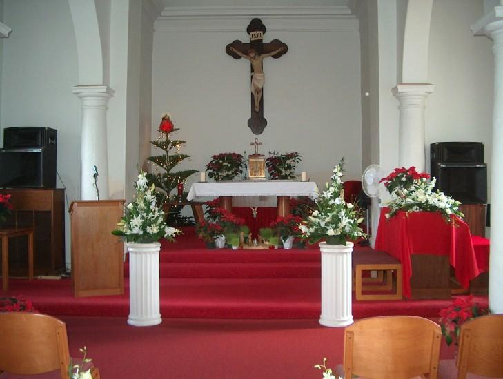 Church Floral Columns 1