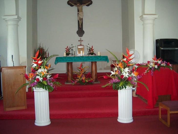 Church Floral Columns 2