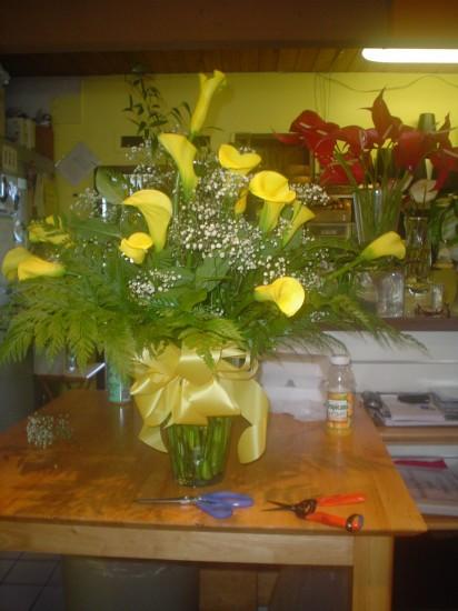 Calla Lilies Arrangement 18